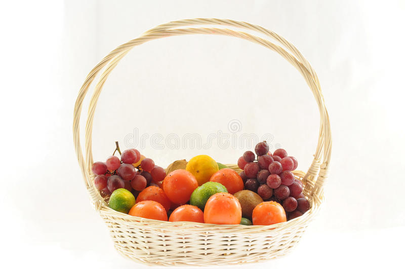 A basketful of various fruits