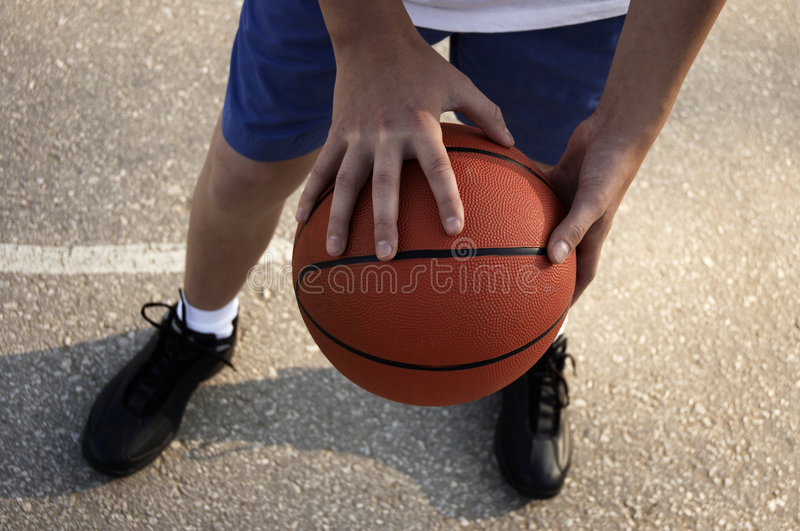basketgata arkivbilder
