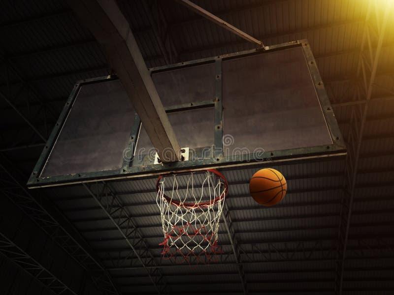 Basketkorg med all att g? till och med netto royaltyfri fotografi