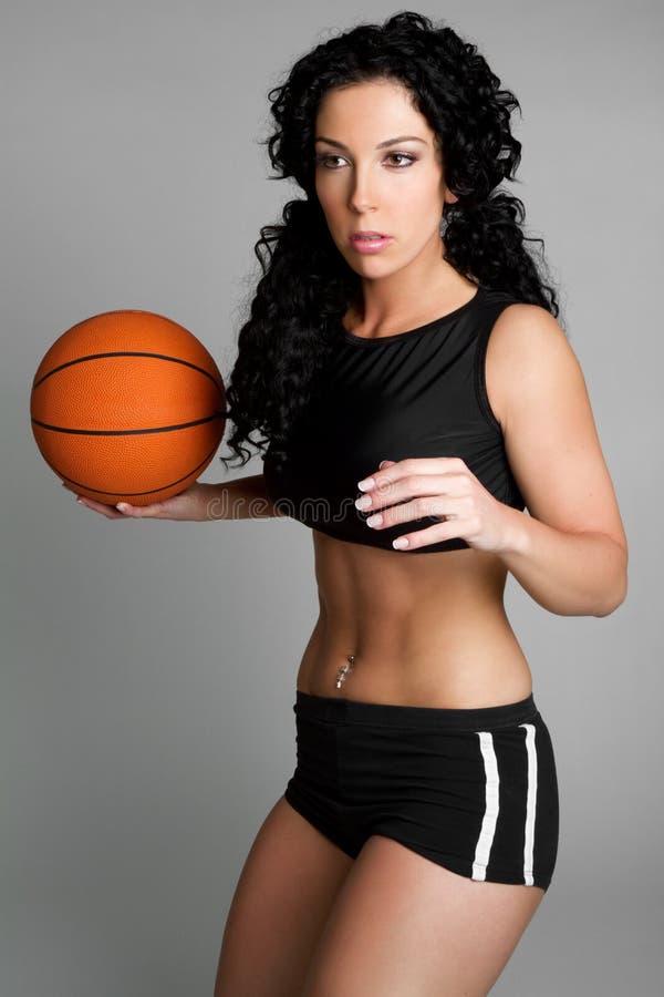 basketkvinna royaltyfri fotografi