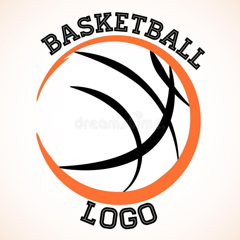 Basketlogo vektor illustrationer
