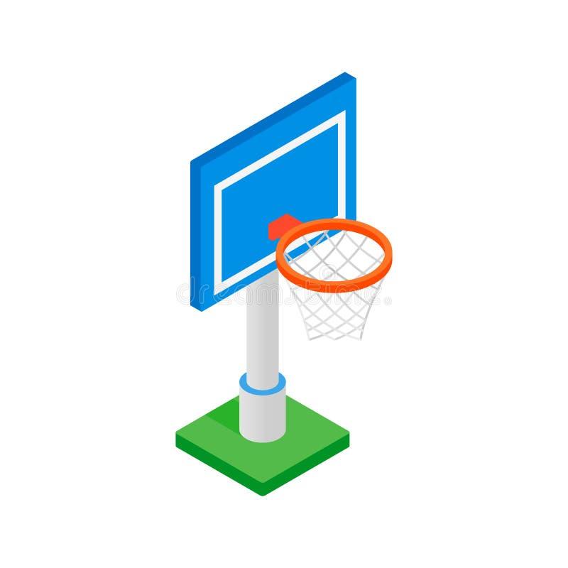 Basketmål på en isometrisk symbol 3d för lekplats vektor illustrationer