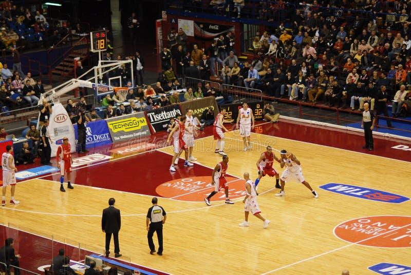 basketmatch royaltyfri bild