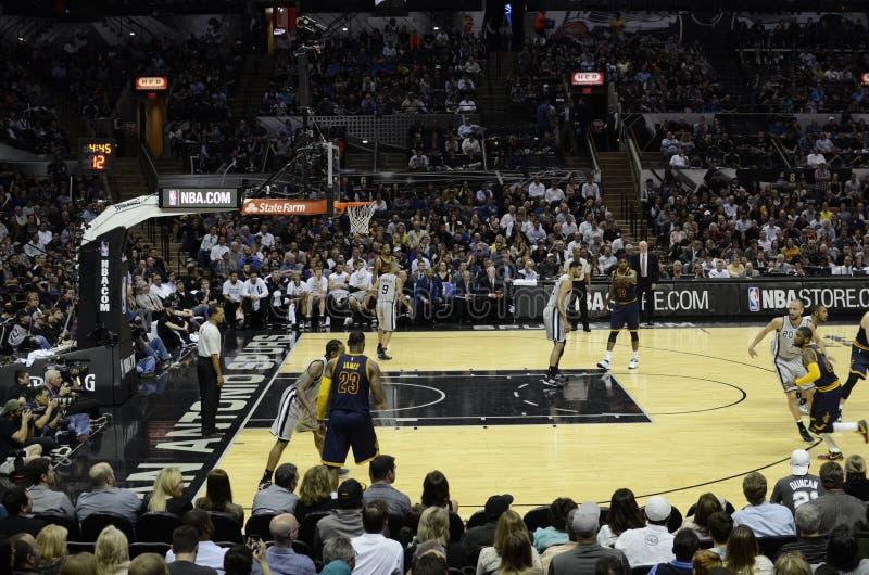 BasketNBA-lek royaltyfri foto