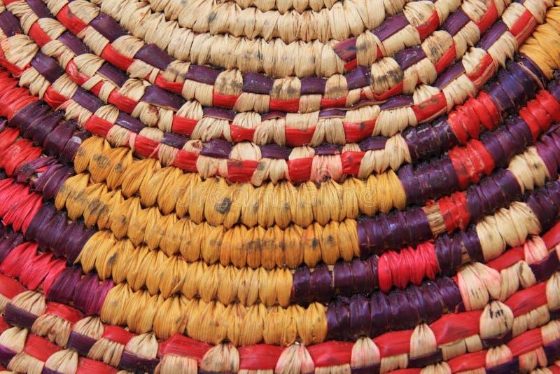 Basketry africano usado fotografia de stock royalty free