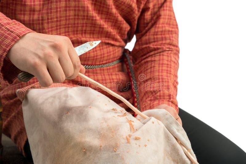 basketry A foto do artesão guarda o withe, close-up foto de stock royalty free