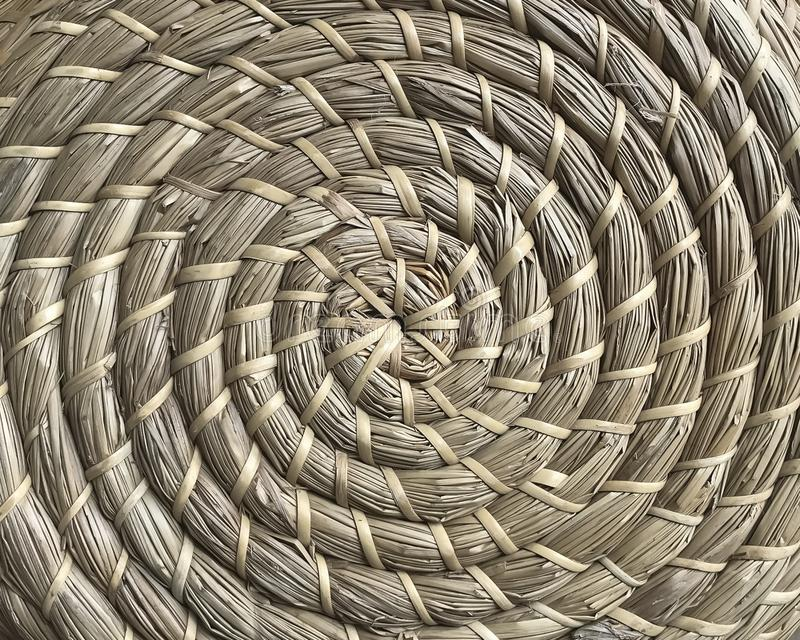 Basketry made of natural fibers in circle style royalty free stock photography