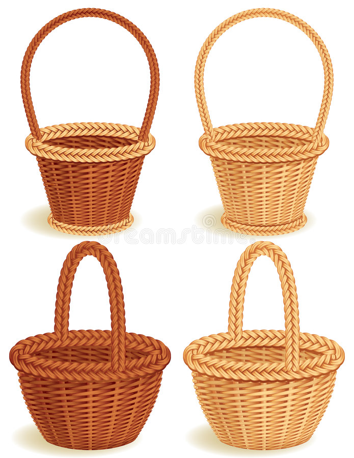 Download Baskets stock vector. Image of brown, cane, woven, nobody - 8176592