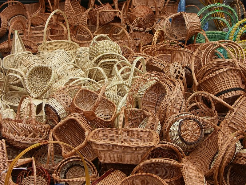Download Baskets stock image. Image of clutter, object, craftsmanship - 89725