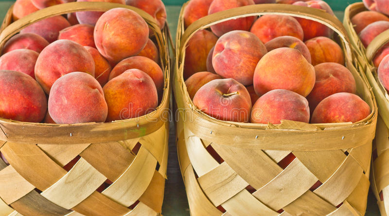 Download Baskets Of Fresh Ripe Peaches Royalty Free Stock Image - Image: 27140206