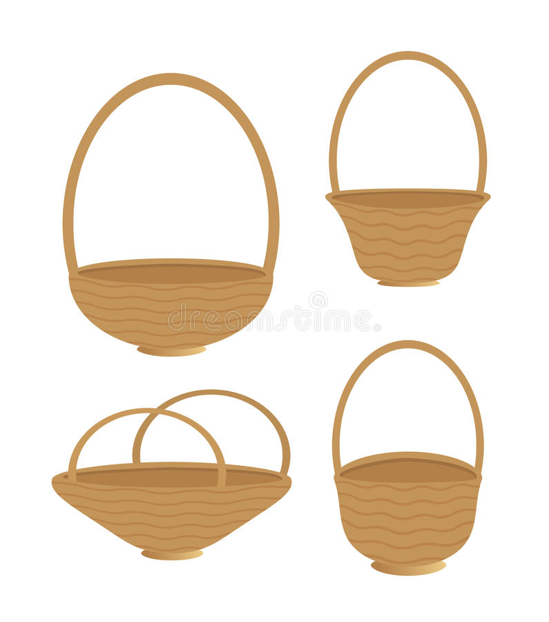 Baskets Isolated Royalty Free Stock Photos