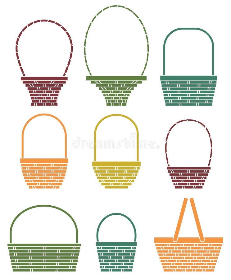 Baskets stock illustration