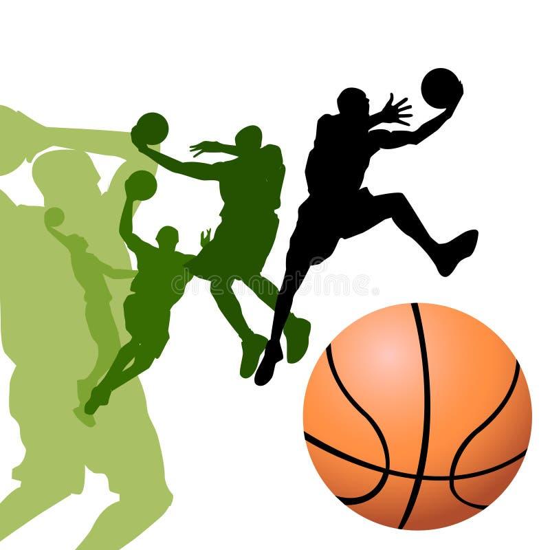 basketspelare vektor illustrationer