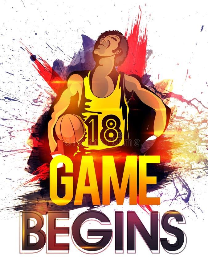 Basketspelare för sportbegrepp royaltyfri illustrationer