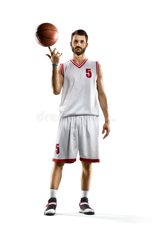Basketspelare i uppgift arkivfoto