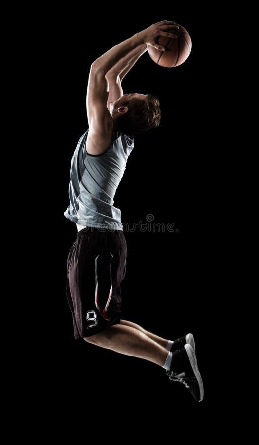 Basketspelare i uppgift royaltyfria foton