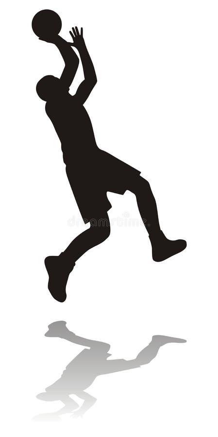 basketspelaresilhouette stock illustrationer