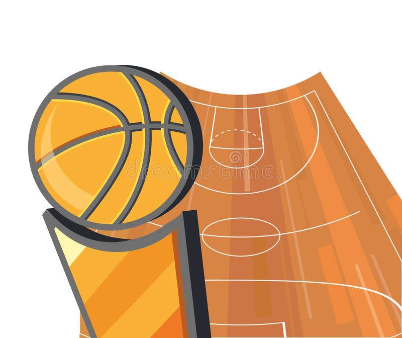 Basketsportdesign stock illustrationer