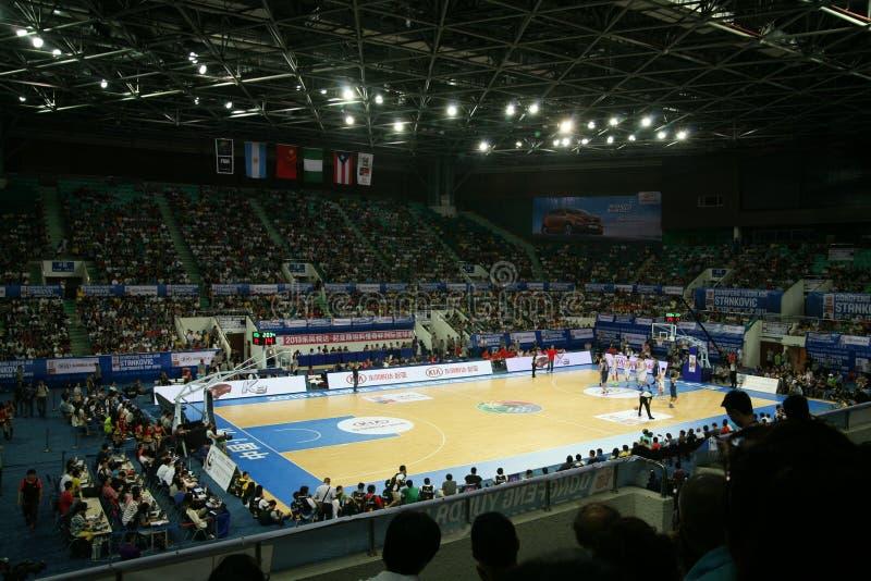 Basketstadion royaltyfri fotografi
