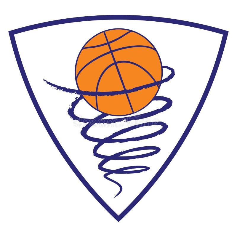 Baskettromb på vitbakgrund stock illustrationer