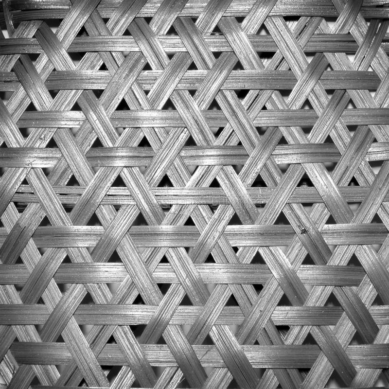 Basketwork. In black and white, background pattern stock images