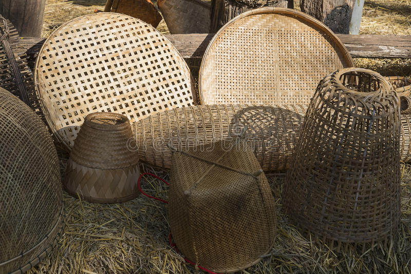 Basketwork handmade from nature. Basketwork rattan pattern handmade from nature royalty free stock photography