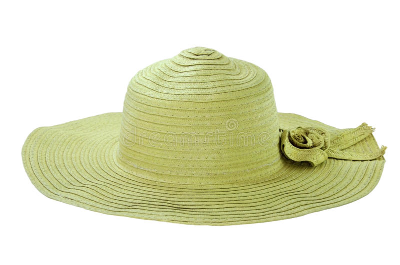 Basketwork ,hat lady. Basketwork made from plants. front view royalty free stock photo