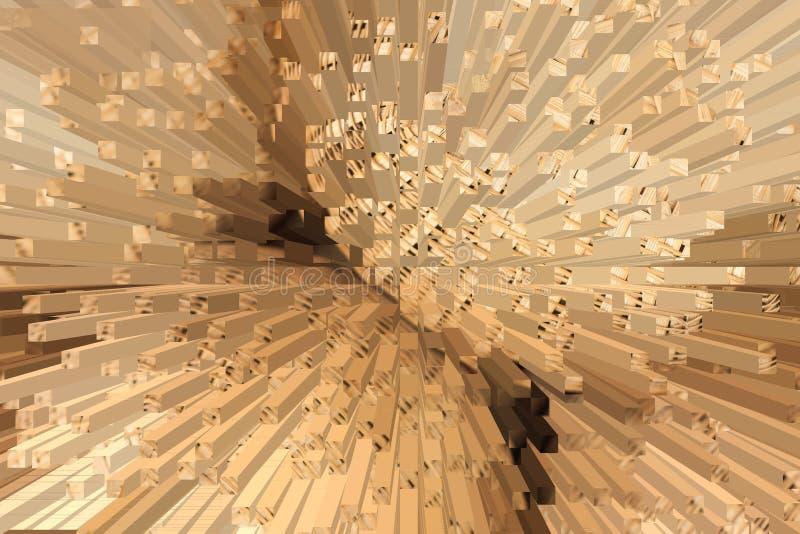 basketwork Mimbre hecho a mano blur ilustración del vector