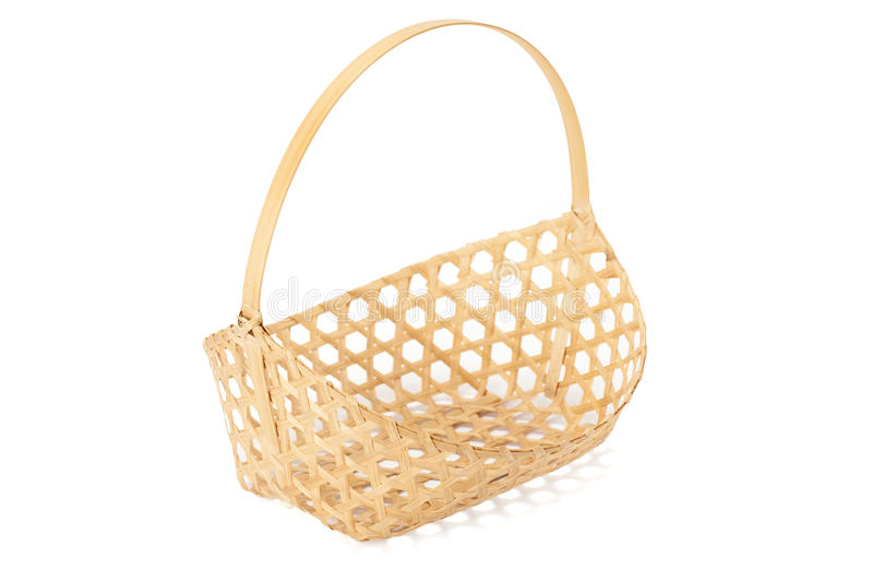 Basketwork. On white background with path royalty free stock photos