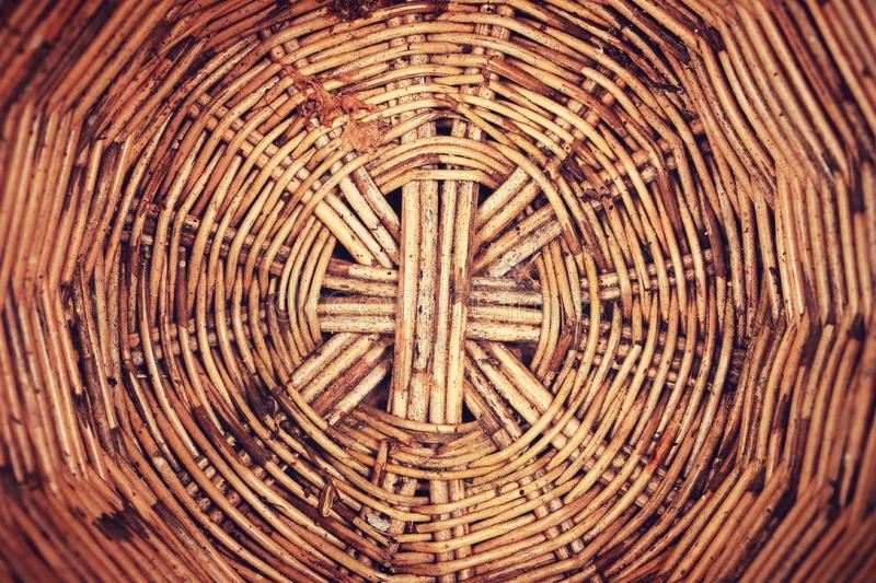 Basketwork. Wood basketwork background stock images