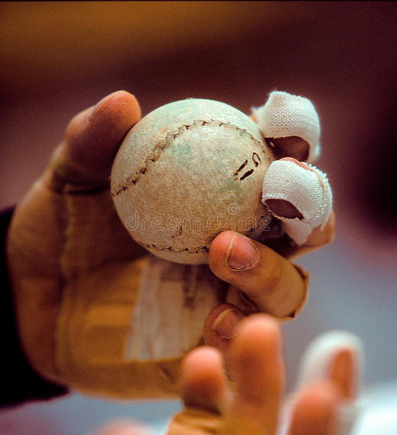 Baskijski balowy szczegół piłka i ręka obraz royalty free