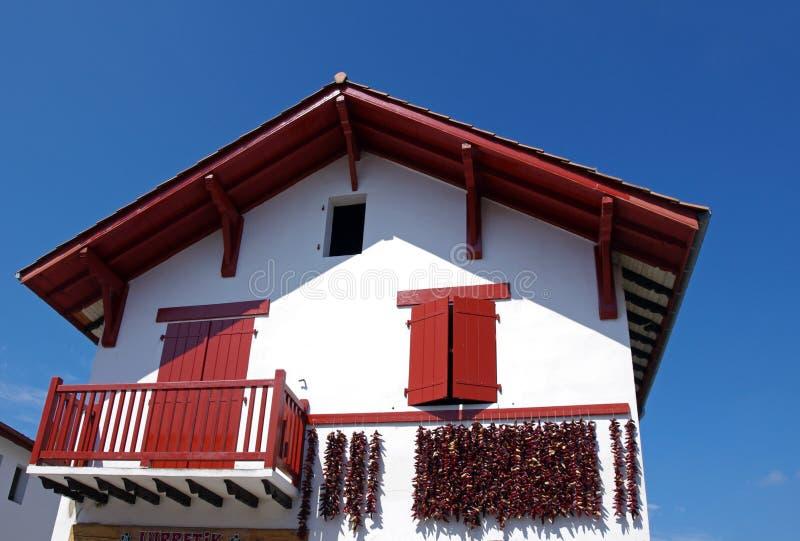 baskijski dom na wsi zdjęcie stock