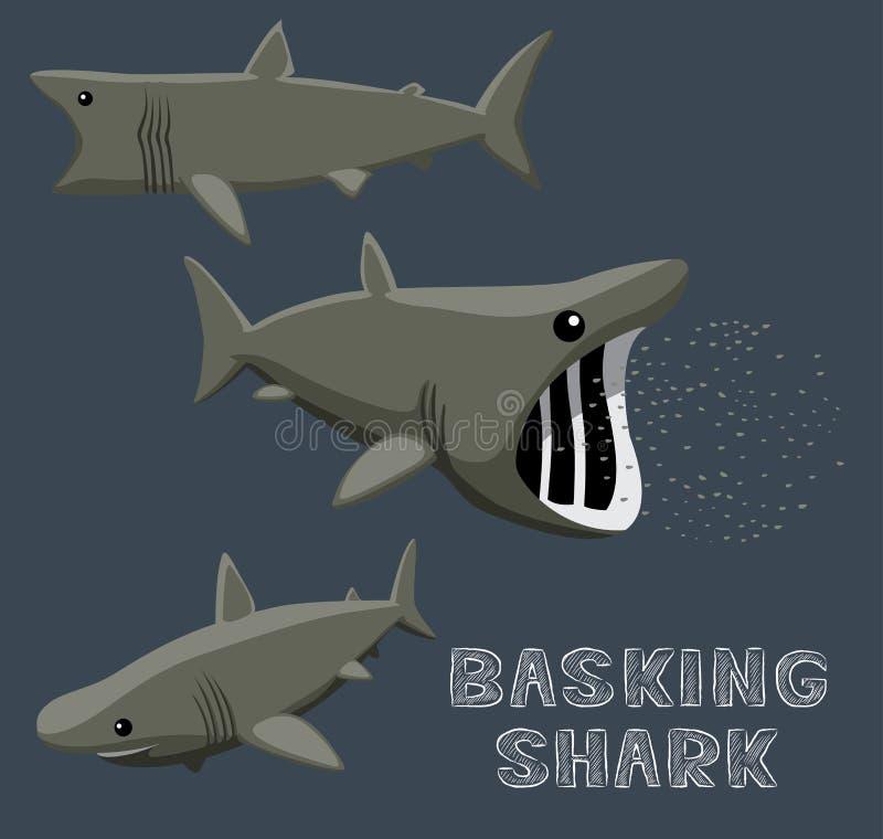 Basking Shark Cartoon Vector Illustration stock illustration
