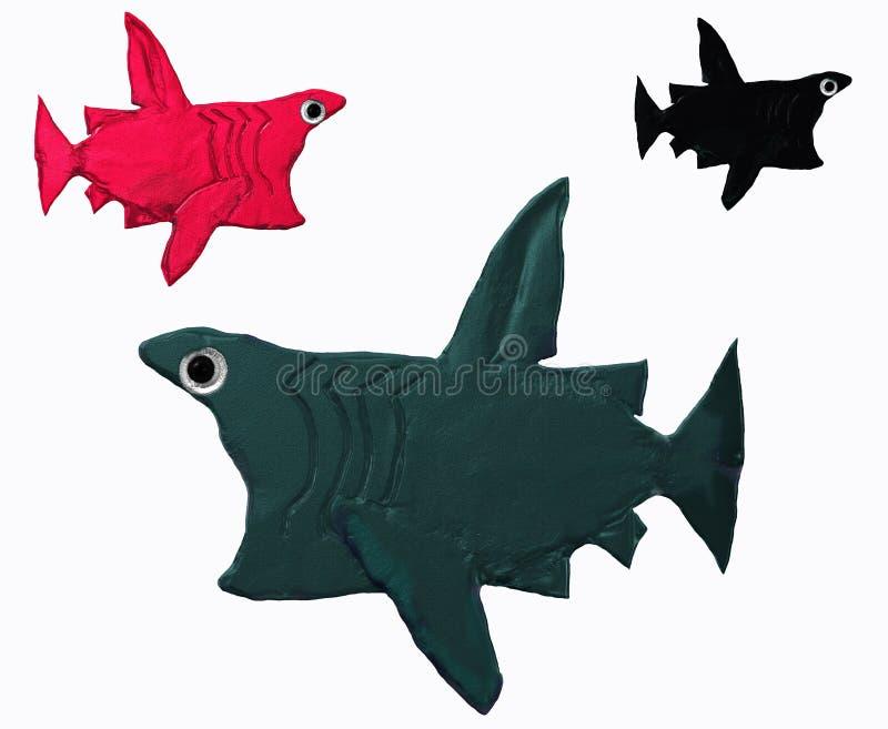 Basking sharks royalty free stock image