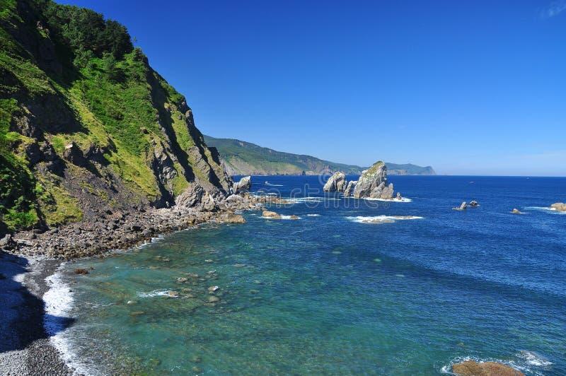 Baskisk atlantisk kust. Euskadi Spanien arkivfoto