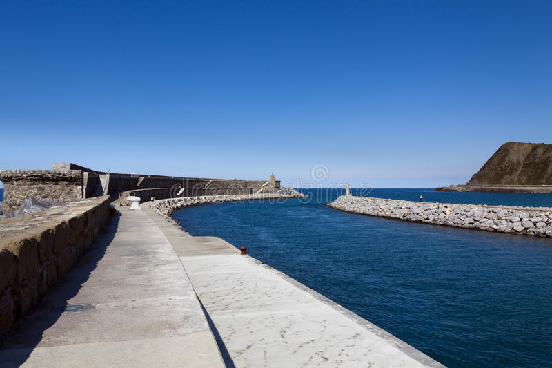 Baskisk kust av Anglet till Debat royaltyfri fotografi