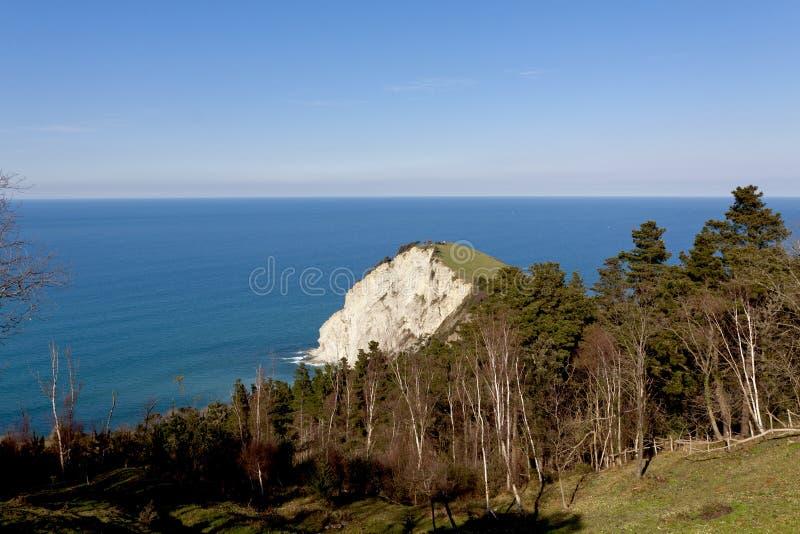 Baskisk kust av Anglet till Debat royaltyfria foton