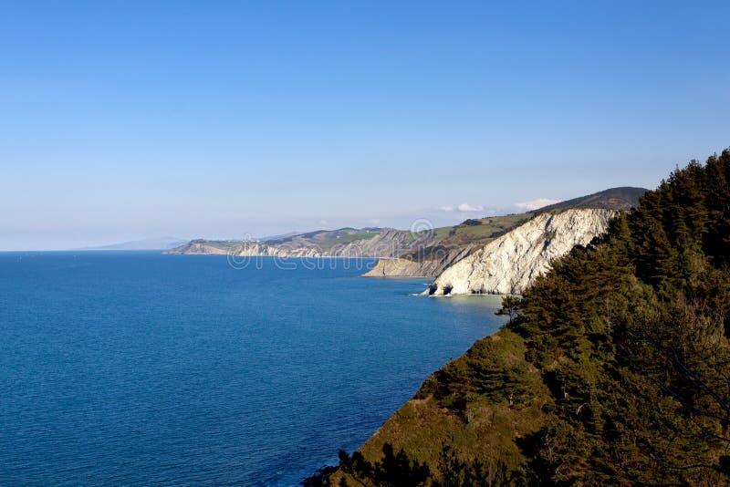 Baskisk kust av Anglet till Debat fotografering för bildbyråer