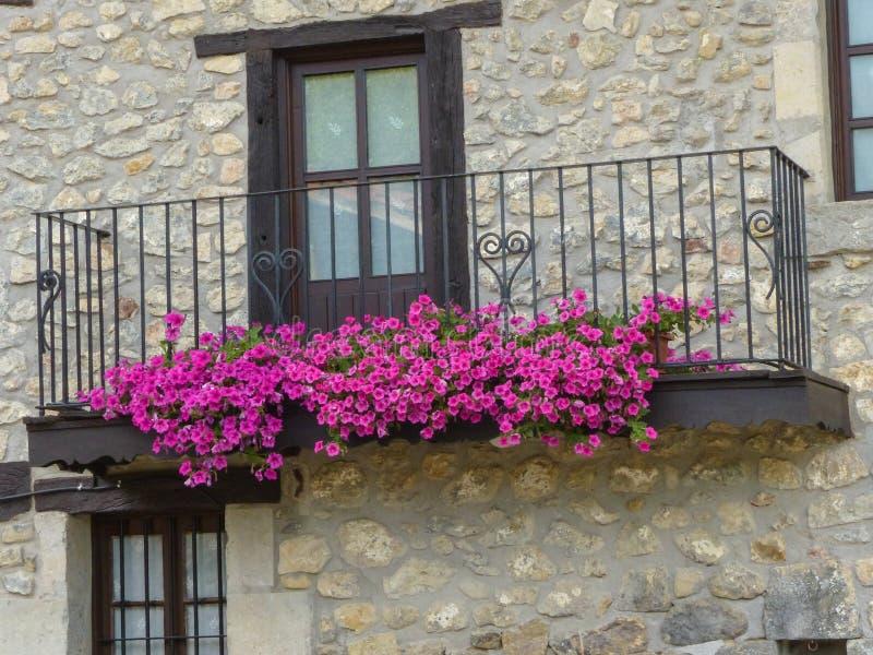 Baskiskt landstradicionalhus i Oma royaltyfria bilder