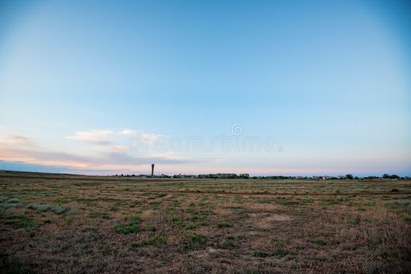 Baskunchak村庄在阿斯特拉罕地区,俄罗斯 遥远的看法 库存照片