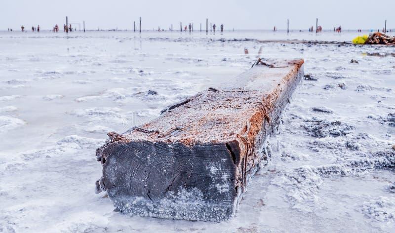Baskunchak See Bogdo-Berg Astrakhan, Russland, lizenzfreies stockbild