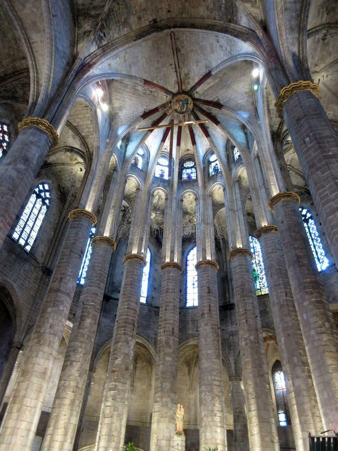Basllica grazioso Santa Maria del Mar Church immagine stock