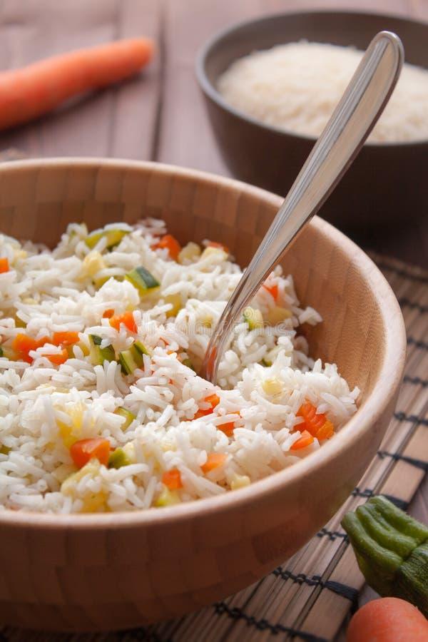 Basmati рис с veggies стоковые изображения