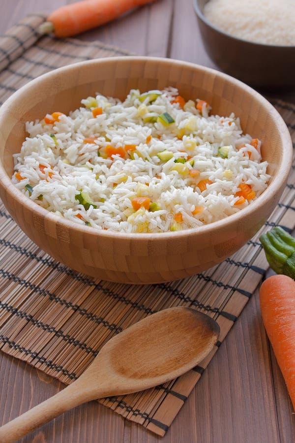Basmati рис с veggies стоковые фотографии rf
