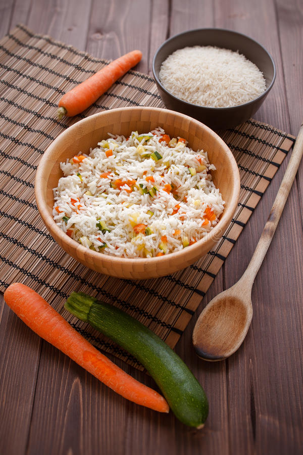 Basmati рис с veggies стоковое фото