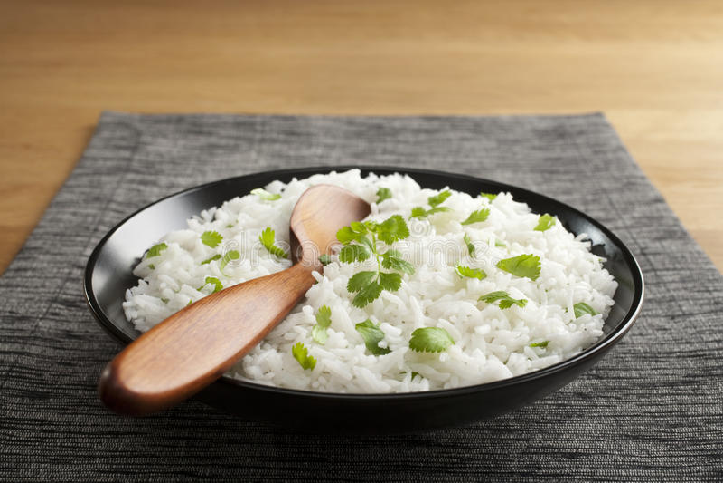 Basmati Rice with Coriander stock image