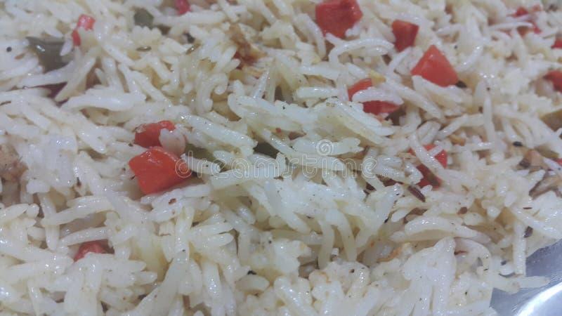 Basmati rice pulao or pulav with chana, or vegetable rice dish stock photos