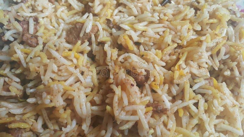 Basmati rice pulao or pulav with chana, or vegetable rice dish royalty free stock image