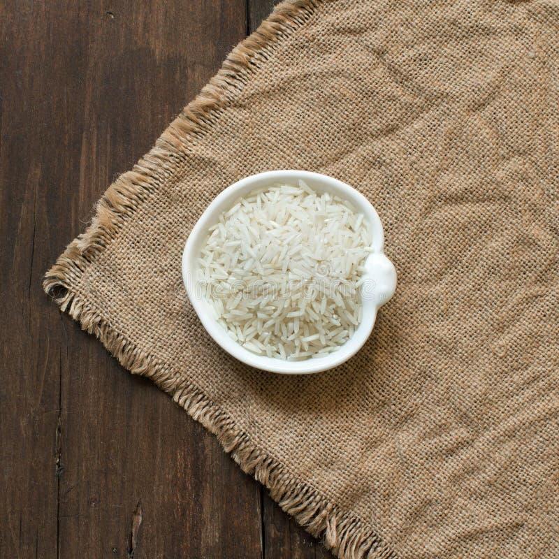 Basmati Rice w pucharze zdjęcia stock