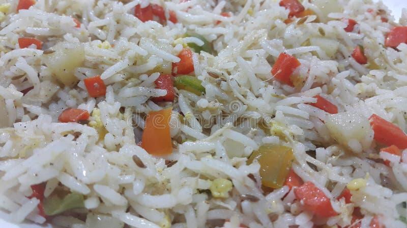 Basmati Rice z grochami, jarzynowi ry?, lub fotografia stock